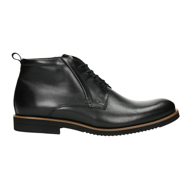 Men's leather ankle boots conhpol, black , 894-6696 - 26