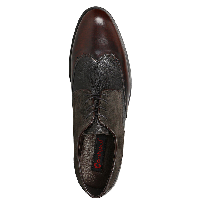 Men's leather Derby shoes conhpol, brown , 826-4922 - 15
