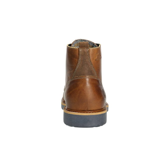 Brown Leather Winter Boots bata, brown , 896-4667 - 17