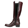 Leather High Boots with Buckle bata, red , 596-5665 - 26