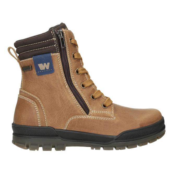 Children's Winter Ankle Boots weinbrenner-junior, brown , 496-8611 - 26