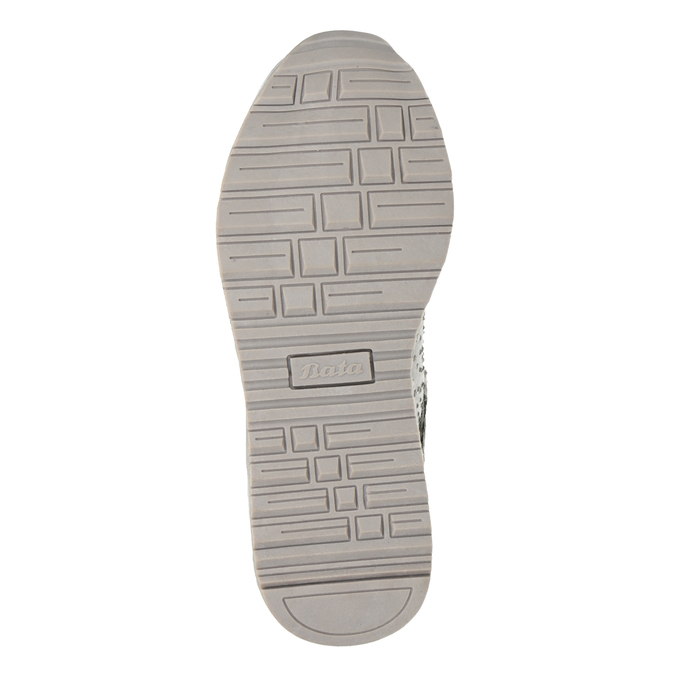 Girls' silver winter boots mini-b, gray , 329-2287 - 17