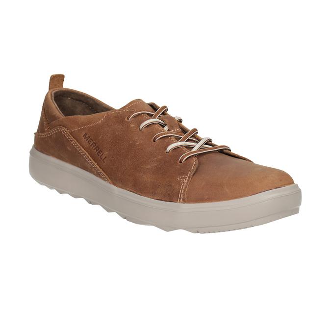 Ladies' leather sneakers merrell, brown , 506-4702 - 13