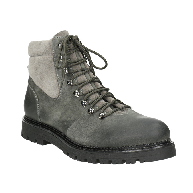 Ladies' Leather Ankle Boots weinbrenner, gray , 596-2672 - 13