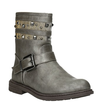 Girls' High Boots with Studs mini-b, brown , 291-3398 - 13