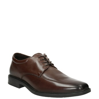 Men's Leather Shoes with Stitching climatec, brown , 824-4986 - 13