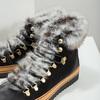 Ladies' Winter Boots with Fur bata, black , 596-6675 - 14