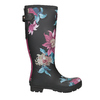 Ladies' Wellingtons with Flowers joules, black , 502-6035 - 16