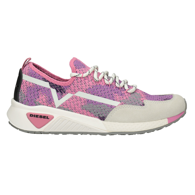 Pink sporty sneakers diesel, pink , 509-5760 - 16