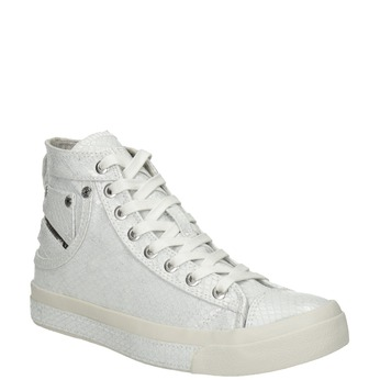 White ankle sneakers diesel, white , 501-6743 - 13