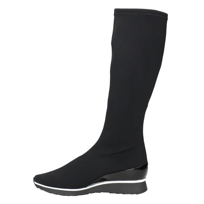 Ladies' Textile High Boots hogl, black , 699-6032 - 15
