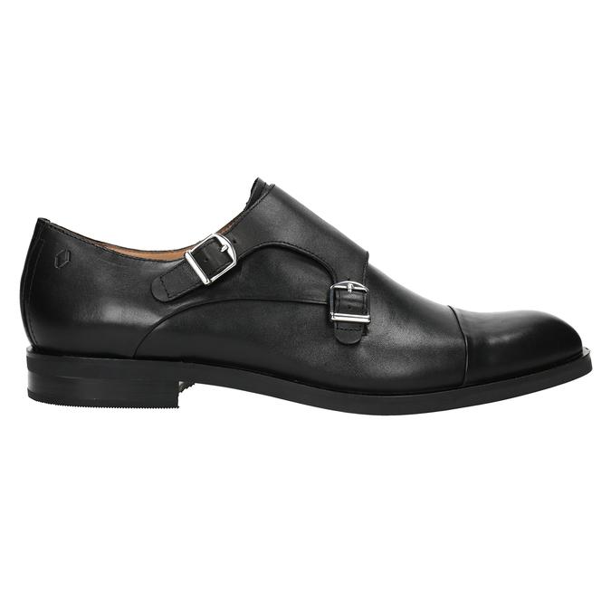 Men's leather Monk Shoes vagabond, black , 814-6023 - 26