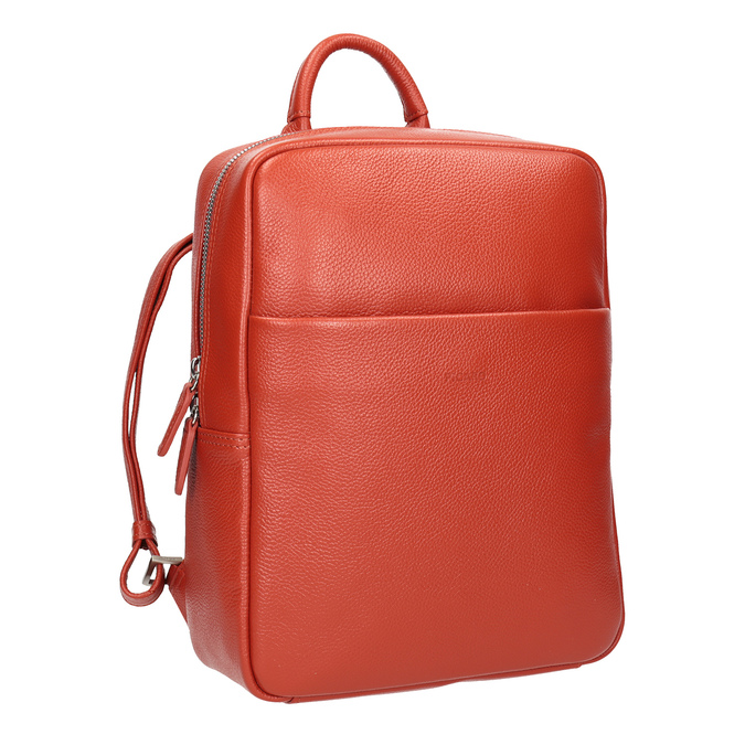 Red leather backpack picard, red , 964-4045 - 13