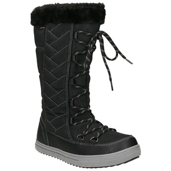 Ladies' Snow Boots with Stitching bata, black , 599-6621 - 13