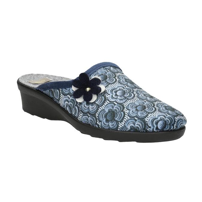 Ladies' slippers bata, blue , 579-9623 - 13