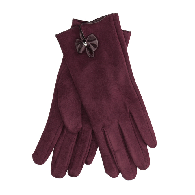 Ladies' gloves with bow bata, red , 909-5613 - 13