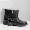 Ladies´ boots with fur bata, black , 594-6609 - 16