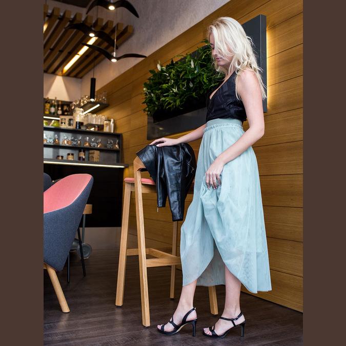 Ladies' party sandals with rhinestones bata, black , 729-6611 - 18