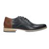 Men's leather Derby shoes bata, blue , 826-9924 - 26