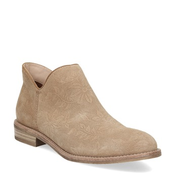 Leather ankle boots bata, brown , 596-3685 - 13