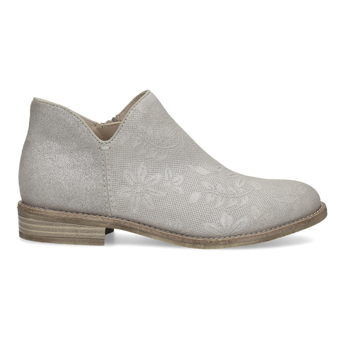 Ladies' ankle boots bata, gray , 596-2685 - 19