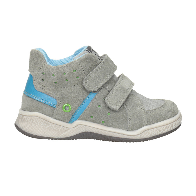 Kids' leather ankle boots bubblegummer, gray , 113-2603 - 26