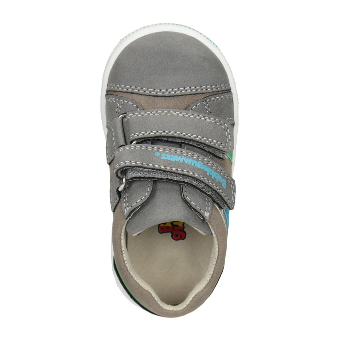 Girls' sneakers with Velcro bubblegummer, gray , 111-2625 - 15