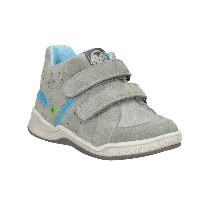 Kids' leather ankle boots bubblegummer, gray , 113-2603 - 13