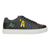 Casual black sneakers with patches north-star, black , 541-9602 - 26