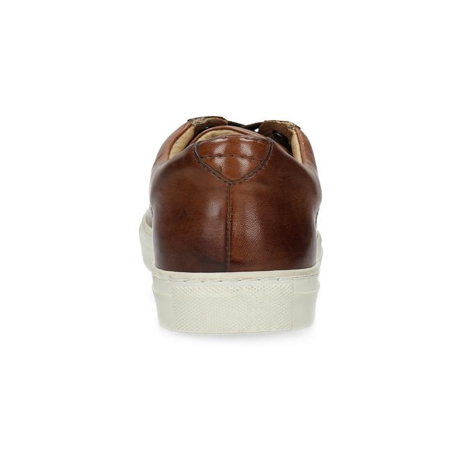 Men's Leather Sneakers bata, brown , 846-4648 - 15