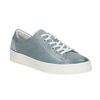 Ladies' leather sneakers with small pearls bata, blue , 546-9606 - 13