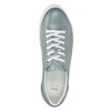 Ladies' leather sneakers with small pearls bata, blue , 546-9606 - 15