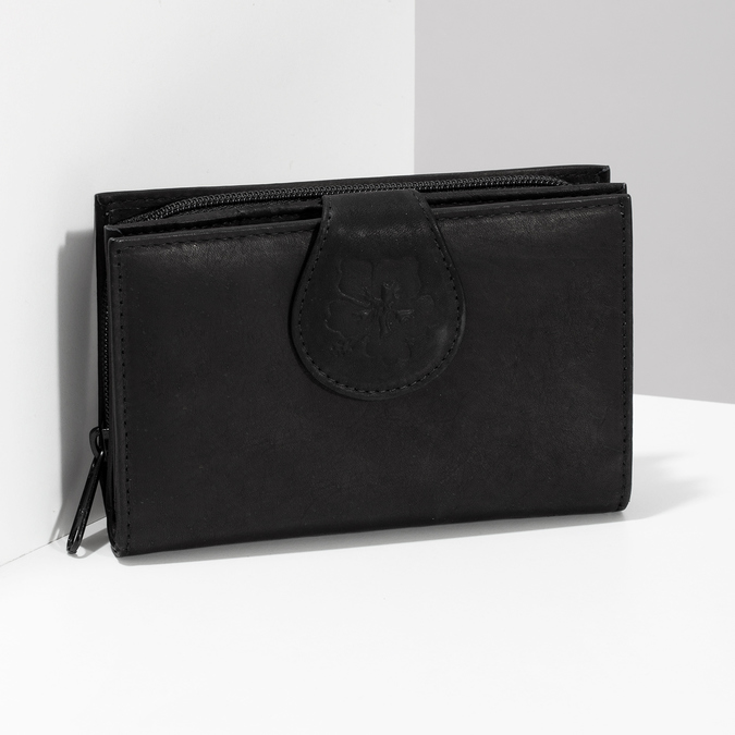 Ladies' leather purse, black , 944-6155 - 17