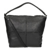 Leather handbag with a detachable strap, black , 964-6233 - 16
