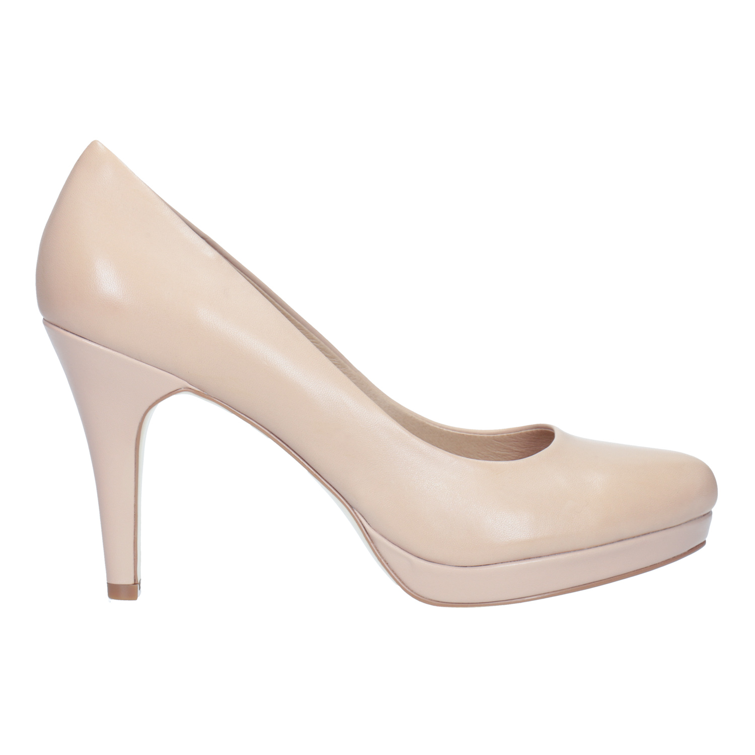 9b641697b991 Insolia Pinkish cream-colored leather pumps - All Shoes